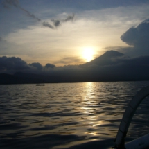 Sunset behind Mount Agung